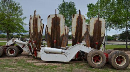 Lielo koku pārstādīšanas mašīna