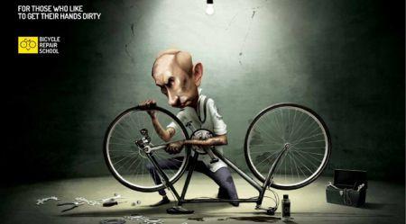 Mūsdienu velosipēdu reklāmas interesantie risinājumi