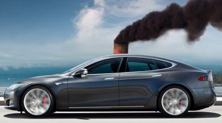 Tesla elektromobiļa CO2 izmeši