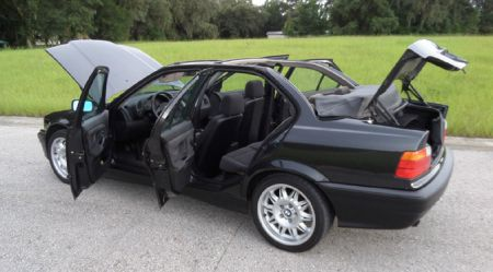 Unikāls BMW E36 kabriolets. Četrdurvju.