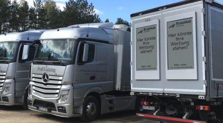Interaktīva reklāmā uz kravas autotransporta