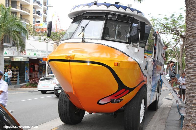 Autobuss-amfibija Austrālija